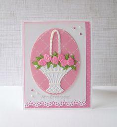 Ann Greenspan's Crafts: Marianne Design Rose Basket