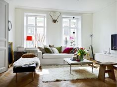 Simple living room with minimal accessories. via desire to inspire