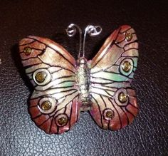 Brilliant Butterfly Pin  B060 by artsdaughter on Etsy #thinkspring #jewelry #butterfly