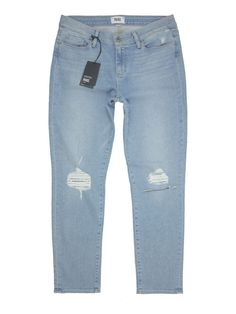 Made with a skinny fit that hits just above the ankle, these soft stretch-denim jeans flatter your curves and flaunt your footwear. Paige Denim, Skinny Fit, Skinny Jeans, Legs Open, Stretch Jeans, Denim Jeans, Skyline, Ankle, Pants