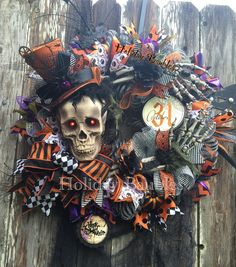 """26"""" Mr. Bones Wreath You can find more beautiful wreaths at Holiday Baubles…"""