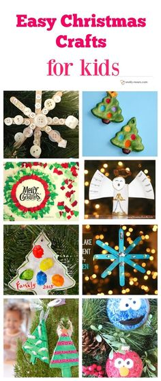 Easy Christmas Crafts for Children. Heaps of crafts. What a great way to make memories. Some awesome craft ideas that would make a great project for your kids at Christmas time.