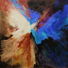 "Lia Melia; Paint 2013 Painting ""As Kingfishers Catch Fire"""