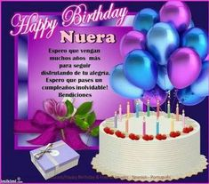 Wishing you a very Happy Birthday and many many more .May your Wishes come True n God continue to Bless you Very happy to have you as part of my Family Sincerely Ur Suegra that luv you lots. Happy Birthday Tia, Birthday Wishes For Daughter, Happy Birthday Celebration, Happy Birthday Flower, Happy Birthday Beautiful, Happy Birthday Pictures, Happy Birthday Messages, Happy Birthday Quotes, Birthday Greetings