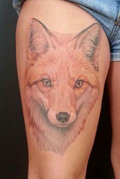 color fox tattoo