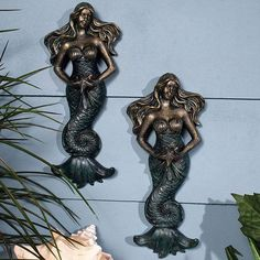 Mermaid By The Sea Wall Plaque – Baubles-N-Bling