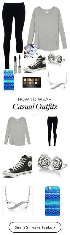 """""""Casually done"""" by shamrocker01 on Polyvore featuring NIKE, Converse, Uncommon, Chamilia and Maybelline"""