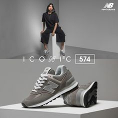 The 574 is one of the most iconic silhouettes for New Balance. For more than three decades, this style has been popular in the industry. This year, New Balance will celebrate the 574 in its Read New Balance Outfit, New Balance Sneakers, New Balance Shoes, New Balance 574 Grau, Grey New Balance, Mens Business Shoes, Sneak Attack, Aesthetic Shoes, Grey Outfit