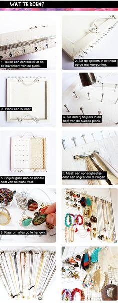 DIY sieradenrekje