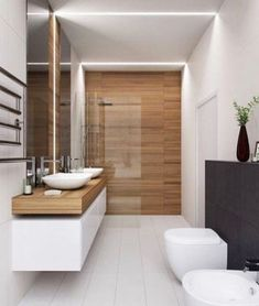 The other small bathroom design ideas are fresh and revolutionary, rethinking what we expect a bathroom design should look like. design badezimmer 10 Small Bathroom Ideas for Minimalist Houses House Bathroom, Modern Bathroom Design, Small Bathroom Tiles, Bathroom Interior, Diy Bathroom Remodel, Luxury Bathroom, Minimalist Home, Beautiful Bathrooms, Small Bathroom Remodel