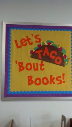 Fiesta fun bulletin board this would fun for Cinco de Mayo Reading Bulletin Boards, Bulletin Board Display, Classroom Bulletin Boards, Preschool Bulletin, Classroom Ideas, Classroom Door, Classroom Displays, Preschool Learning, Library Lessons