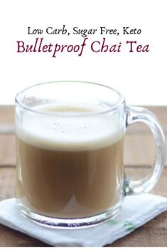 Keto Chai Tea Latte is a rich and creamy alternative to Bulletproof Coffee. For those who don't love coffee this bulletproof Chai tea latte will get you through the day! Perfect for the fall days and winter nights! Keto Diet Drinks, Diet Dinner Recipes, Keto Drink, Tea Recipes, Keto Foods, Healthy Drinks, Paleo Recipes, Bulletproof Tea Recipe, Bulletproof Coffee
