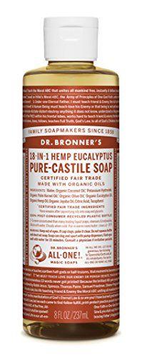 Dr Bronners Fair Trade  Organic Castile Liquid Soap  Eucalyptus 8 oz -- For more information, visit image link.