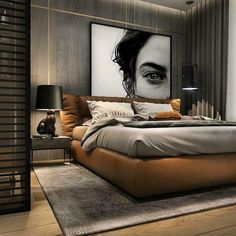 Awesome Minimalist Bedroom Design Ideas - Home Design Home Room Design, Modern Bedroom Design, Loft Design, Master Bedroom Design, Home Decor Bedroom, Home Interior Design, Bedroom Ideas, Mens Room Decor, Modern Luxury Bedroom