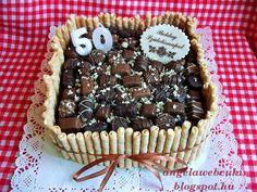 Csokoládés bonbonos torta ( Bea-féle ) http://angelawebcuki.blogspot.hu/2013/05/csokolades-bonbonos-torta.html