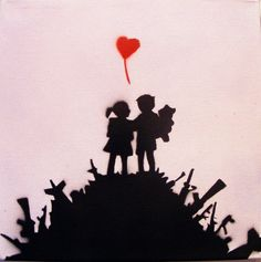 Banksy Original Replica Spray Paint Stencil Art by thestreetcanvas, $19.00