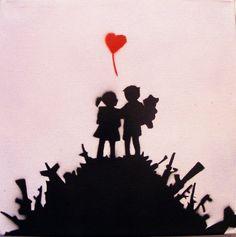 Banksy Original Replica Spray Paint Stencil Art by thestreetcanvas, $19.00