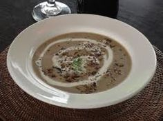 Ladle the hot soup into deep soup bowls and scatter a little of the remaining biltong, as well as the blue cheese on top Biltong, Hot Soup, Winter Food, Winter Meals, Cheese Soup, Cooking School, Mushroom Soup, Soup Recipes