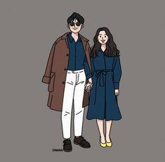 Cute Couple Drawings, Cute Couple Art, Cute Drawings, Cartoon Drawings, Couple Illustration, Illustration Art, Illustrations, Wedding Couples, Cute Couples