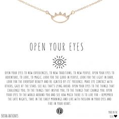 Our dainty open your eyes necklace is a constant reminder to live with passion in your eyes and fire in your heart. Romantic Love Quotes, Self Love Quotes, Change Quotes, Words Quotes, Me Quotes, Motivational Quotes, Inspirational Quotes, Sayings, Moving On Quotes Letting Go