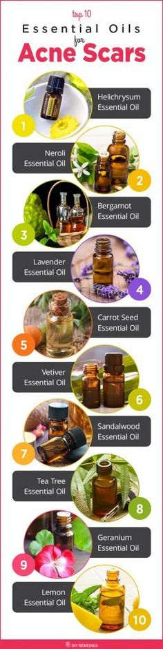 Best Essential Oils for Acne Scars  Here is the list of essential oils that used to heal acne scars effectively. Have a look at them and try it to get relief from these stubborn acne scars.  #DIYRemedies