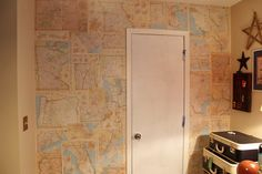 Sweet Something Designs: Logan's Map Wall