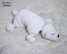 Crochet Polar Bear Pillow Pattern PDF Crochet Interior Baby | Etsy
