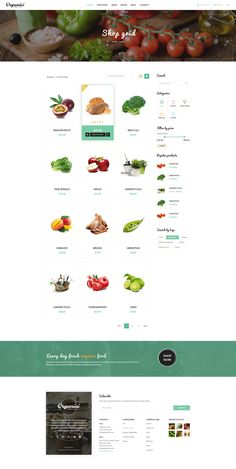 themeforest.net/... Organici is the premium PSD template for Organic Food Shop. Built especially for any kind of organic store: Food, Farm, Cafe