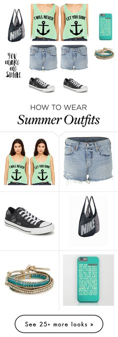 """""""Best friends"""" by cheesedippedapples on Polyvore featuring Converse, Levi's, NIKE, Nakamol Design and Americanflat"""