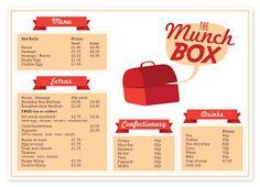 Munch Box menu