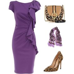 purple leopard minimalist by rvazquez on Polyvore featuring Dorothy Perkins, Gianvito Rossi, Diane Von Furstenberg and Marc Jacobs