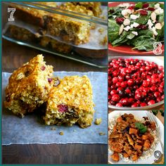 20 Cranberry recipes including these healthy oat bars low-carb spinach salad and chicken curry with cranberry