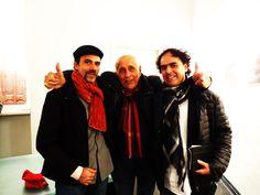 Il Professor Antonello D'Egidio, l'arch. Walter Vallini, il Maestro Franco Fontana