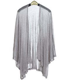 This Gray Shimmer Kimono by SUE & KRIS is perfect! #zulilyfinds