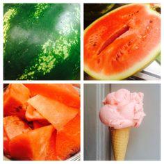 watermelon ice cream made by Veganista