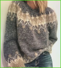 Women's Fashion Long Sleeve Fair Isle Sweater Plus Size Oversized Swea – undaylily Source by UndaylilyShop Icelandic Sweaters, Cooler Look, Sweater Design, Vintage Knitting, Pulls, Knitwear, Crochet, Womens Fashion, How To Wear