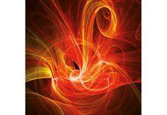 Fototapete Chaos Ray rot - faszinierendes Lichtspiel als Dekoidee | wall-art.de