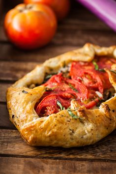 Try this Italian Eggplant Galette with roasted garlic eggplant, mozzarella cheese and fresh garden tomatoes wrapped in a toasted puff pastry! It's delicious, completely plant based and perfect for dinner for the family. Eggplant Dishes, Roast Eggplant, Eggplant Recipes, Savoury Pastry Recipe, Pastry Recipes, Cooking Recipes, Vegetable Recipes, Vegetarian Recipes, Veggie Italian Recipes