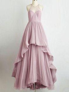 Long Prom Dress A-line Floor-length Ruffles Prom Dress/Evening Dress JKL209