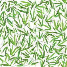 Bamboo leaves seamless pattern. Floral spring background. — Stock Illustration #27567247