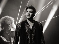 @KarenTWilliams     adamlambert looking especially handsome while @DrBrianMay weaves his musical magic...