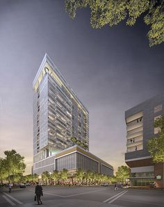 The Courtlandt, a 28 story high rise proposed for Midtown Houston, across from Pearl Whole Foods