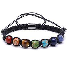 7 Chakra Beaded Macrame Shamalla Bracelet