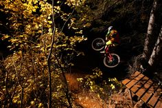 Park City pro Eric Porter rides the new Double Down trail at Canyons Resort.