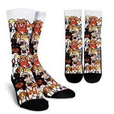 Cats Figure Compression Socks For Women 3D Print Knee High Boot