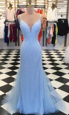 Prom Dress Fitted, Sparkly Sequins Blue Mermaid Long Prom Dress There are delicate lace prom dresses with sleeves, dazzling sequin ball gowns, and opulently beaded mermaid dresses. Blue Mermaid Prom Dress, Tulle Prom Dress, Mermaid Dresses, Party Dress, Lace Dress, Tulle Lace, Party Gowns, Prom Dresses Blue, Pretty Dresses