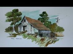 ▶ How to draw barns, 3 different barns, quick easy and fun at 4x speed. With Peter Sheeler - YouTube