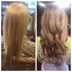 Before and After Great Lengths Hair Extensions by Doreen Great Lengths, Aveda, Human Hair Extensions, Rose Buds, Hair Lengths, Salons, Stylists, Long Hair Styles, Color