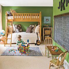 Chalkboard/ Green walls