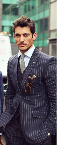 three piece suit ~ David Gandy